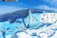 Desná - Černá Říčka Plan des pistes