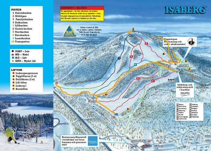 Isaberg Piste Map Plan Of Ski Slopes And Lifts Onthesnow