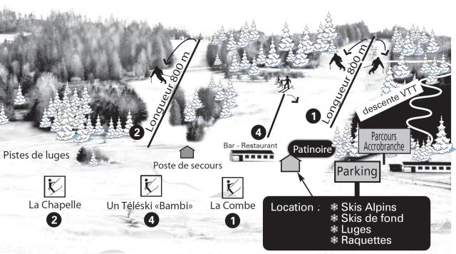 La Combe Saint Pierre Trail Map