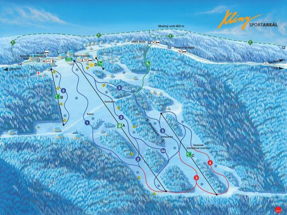 Klíny Trail Map