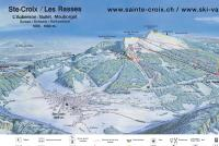 Ste-Croix - Les Rasses Trail Map
