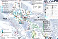 St-Cergue La Dôle Plan des pistes
