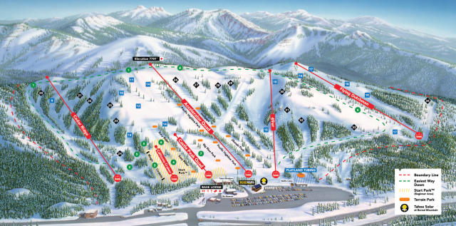 Boreal Mountain Resort Piste Map