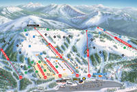 Boreal Mountain Resort Mapa tras