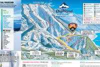 Diamond Peak Plan des pistes