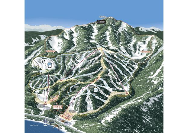 Homewood Mountain Resort Plan des pistes