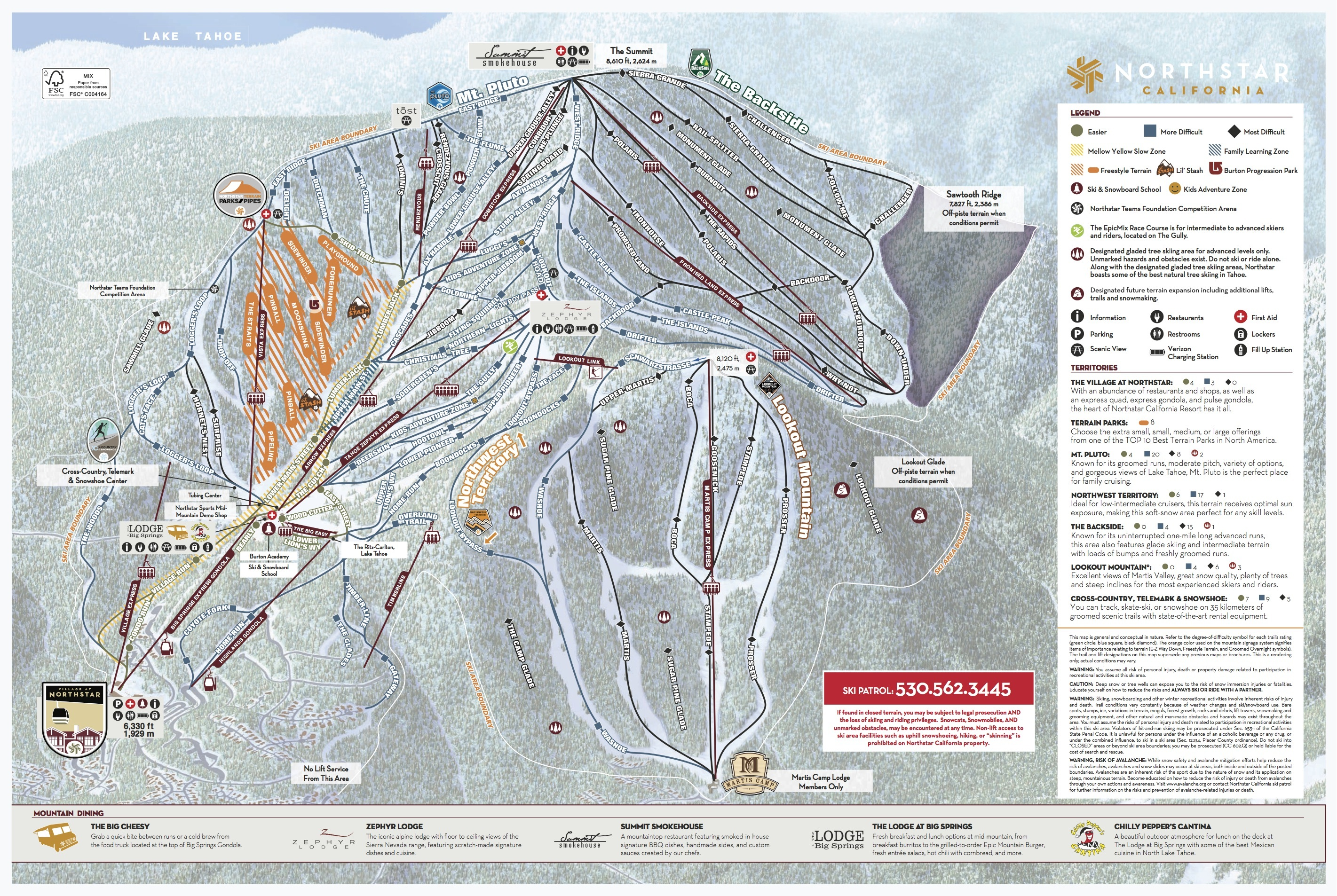 Northstar California Trail Map Onthesnow