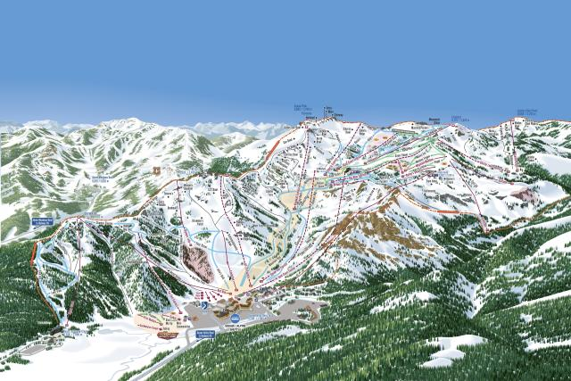 Squaw Valley Alpine Meadows Trail Map