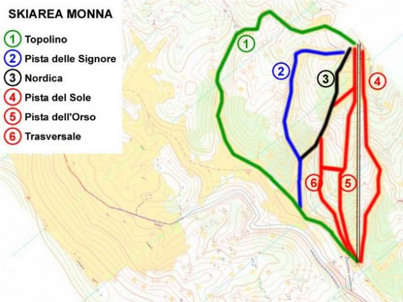 Monte Livata Trail Map