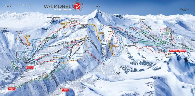 Doucy Piste Map