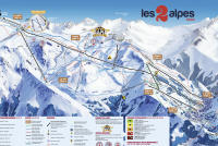 Les 2 Alpes Mappa piste