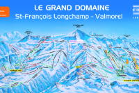 Saint François Longchamp Piste Map