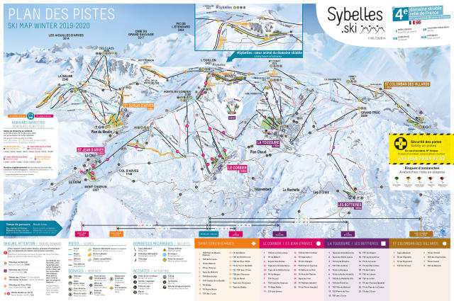 Saint Sorlin d'Arves Piste Map