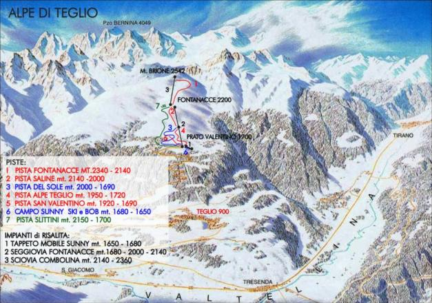 Teglio Trail Map
