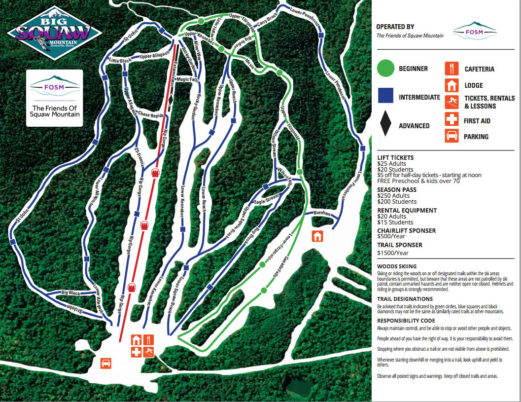 big squaw mountain ski resort trail map | onthesnow