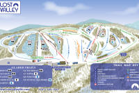 Lost Valley Mappa piste