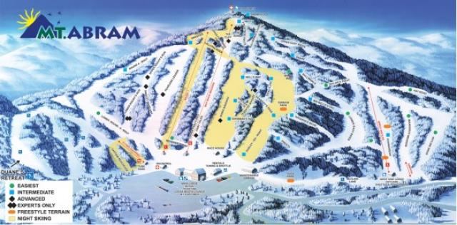 Mt Abram Ski Resort Trail Map Onthesnow