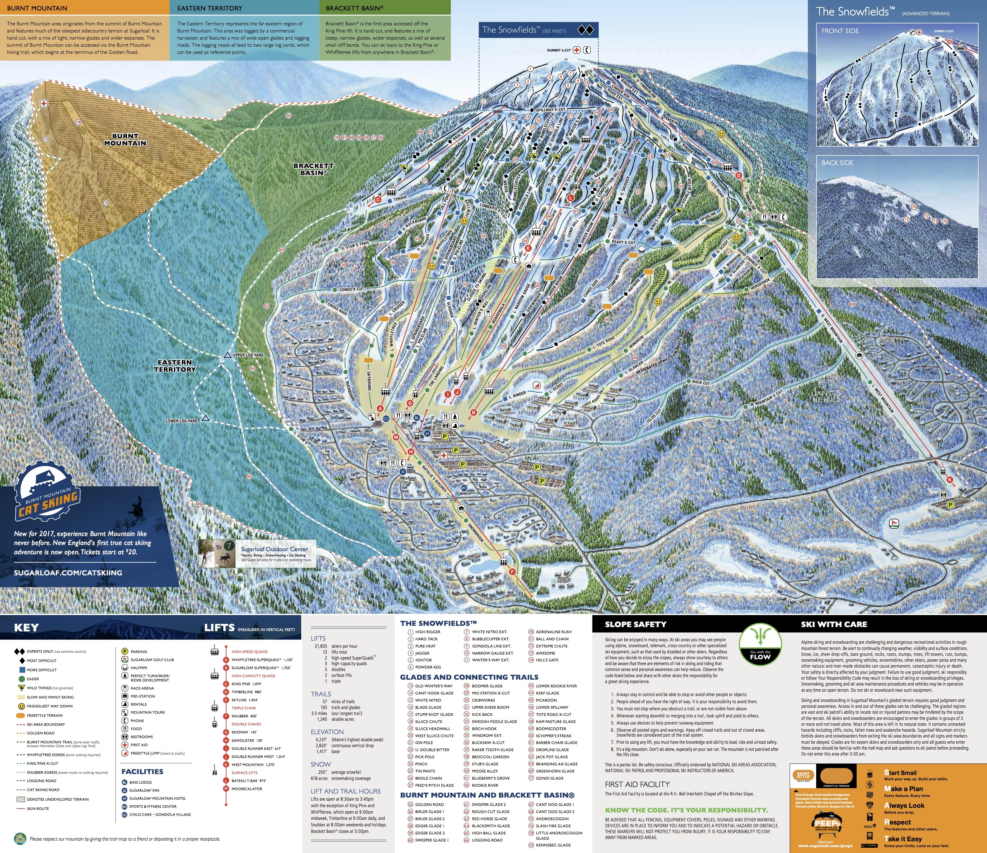 Ski Resorts In Maine Map.Sugarloaf Trail Map Onthesnow