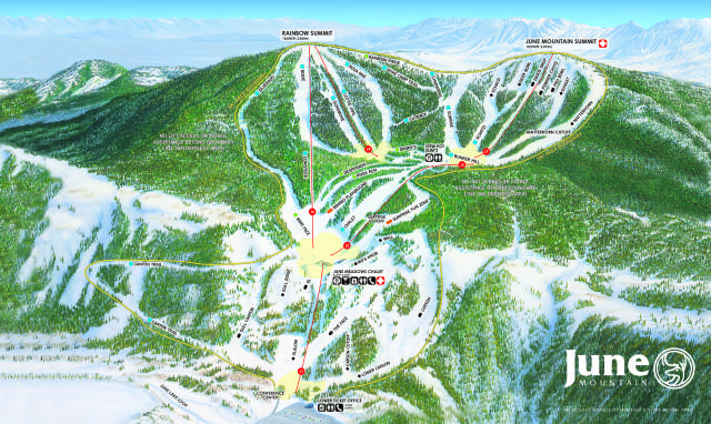 June Mountain Trail Map | OnTheSnow on powder mountain map, deer mountain map, ascutney mountain resort map, titus mountain map, copper mountain map, mammoth mountain map, shirley mountain map, october mountain map, blue mountain ski area map, windham mountain map, bristol mountain map,