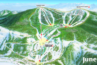 June Mountain Plan des pistes