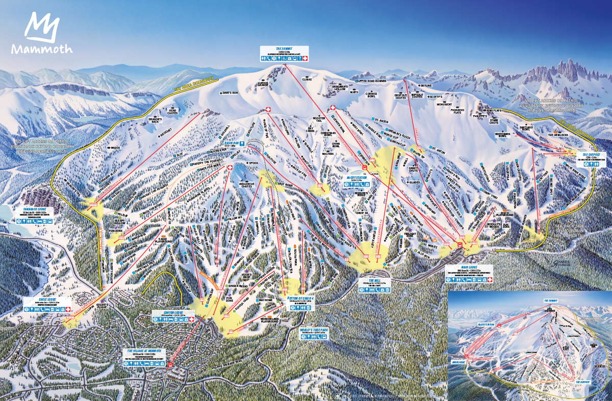 Mammoth Mountain Trail Map | OnTheSnow