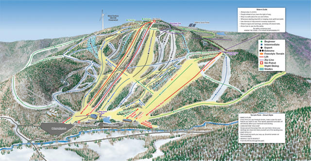 Berkshire East Plan des pistes