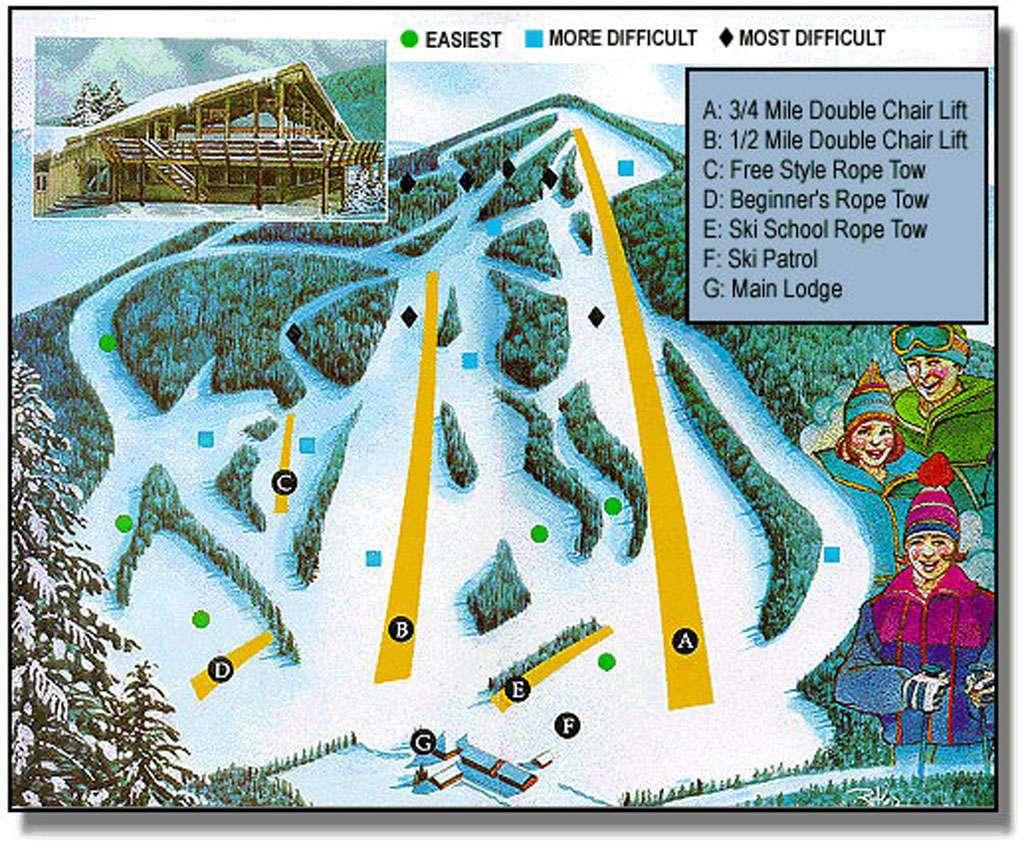 bousquet ski area trail map | onthesnow