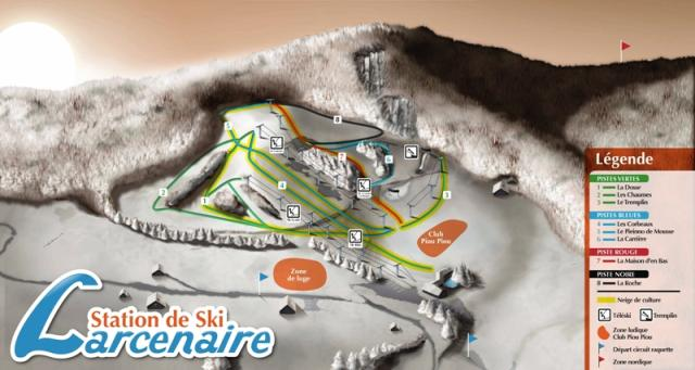 Bussang - Larcenaire Trail Map