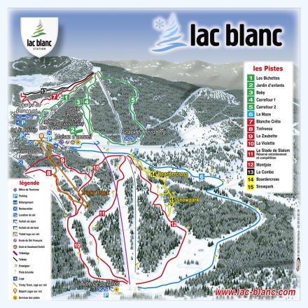Le Lac Blanc Trail Map