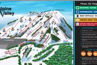 Alpine Valley Ski Area Mappa piste