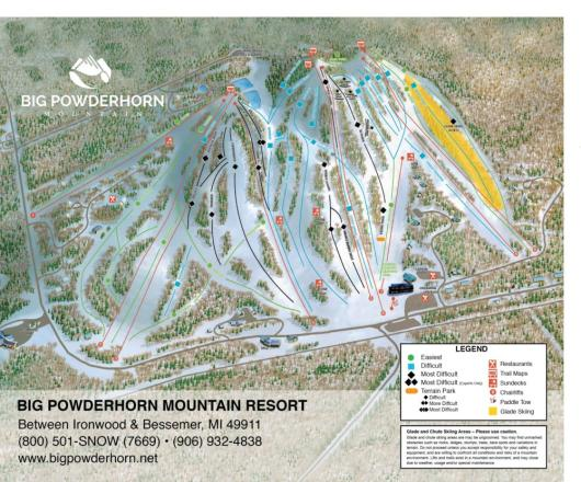 Big Powderhorn Mountain Pistenplan
