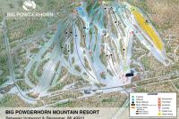 Big Powderhorn Mountain Plan des pistes