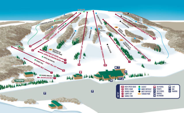 Bittersweet Ski Area Piste Map