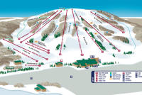 Bittersweet Ski Area Trail Map