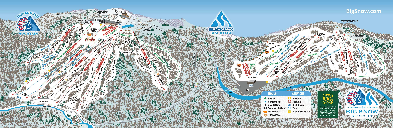 Ski Resort Michigan Map.Big Snow Resort Blackjack Trail Map Onthesnow