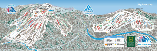 Big Snow Resort - Indianhead Mountain Mapa tras