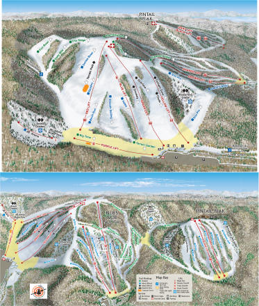 Nubs Nob Ski Area Piste Map