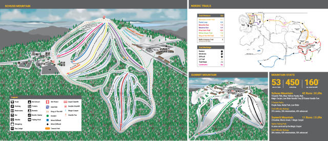 Schuss Mountain at Shanty Creek Plan des pistes