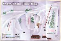 Snow Snake Mountain Ski Area Mappa piste