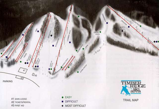 Timber Ridge Plan des pistes