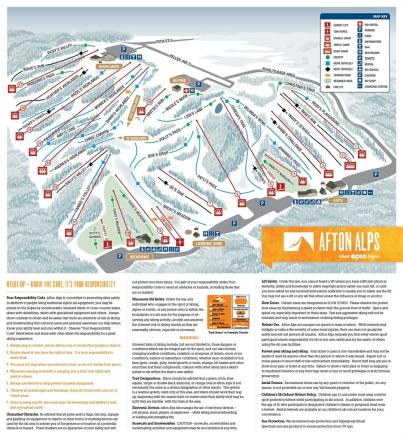 Afton Alps Trail Map