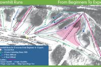 Andes Tower Hills Ski Area Plan des pistes