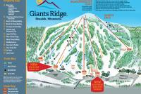 Giants Ridge Resort Plan des pistes
