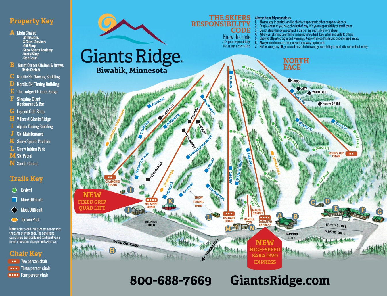 skiing in minnesota map Giants Ridge Resort Trail Map Onthesnow