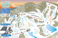 Hidden Valley Ski Area Mappa piste