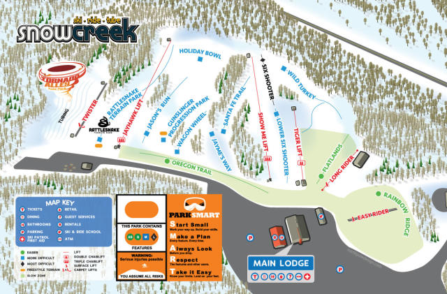 Snow Creek Piste Map