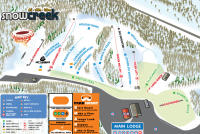 Snow Creek Plan des pistes