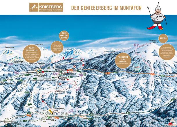 Kristberg Silbertal Plan des pistes