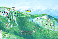 Blacktail Mountain Ski Area Piste Map