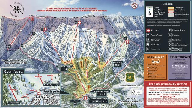 Bridger Bowl Trail Map